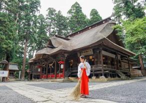 恋がしたい!結婚したい!縁結びの神様熊野大社で巫女体験